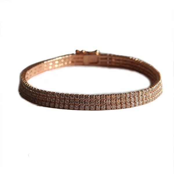 دستبند نقره رزگلد، روکش آبکاری طلا