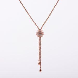 گردنبند نقره آویز گوی، روکش آبکاری طلا