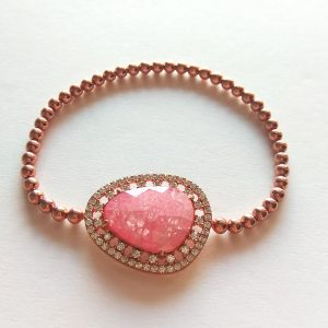 دستبند سنگ اوپال، نقره روکش آبکاری طلا