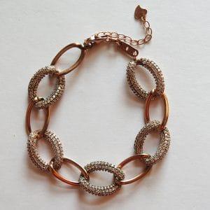 دستبند کارتیر زنانه، نقره روکش آبکاری طلا
