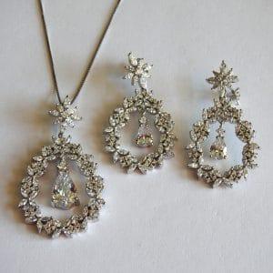 نیمست نقره نگیندار طرح جواهر، روکش آبکاری طلا