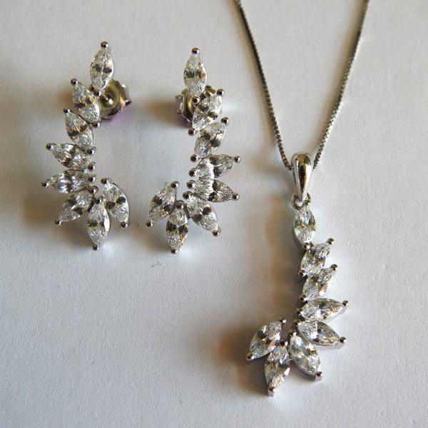 نیمست طرح جواهر نقره، روکش آبکاری طلا