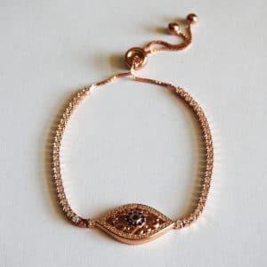 دستبند چشم نظر مارشالی، نقره روکش آبکاری طلا