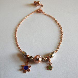 دستبند نقره پاندورا،روکش آبکاری طلا