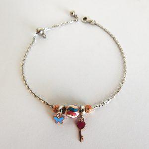 دستبند پاندورا نقره، روکش آبکاری طلا