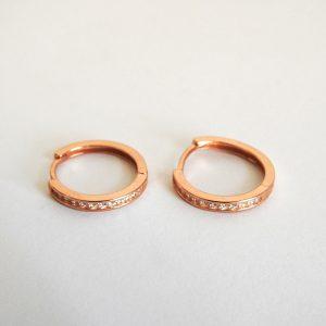 گوشواره نقره حلقه ای، روکش آبکاری طلا