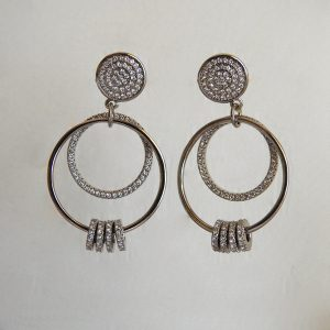 گوشواره نقره آویز، روکش آبکاری طلا